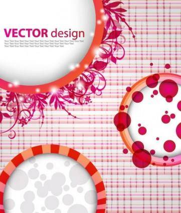 free vector Dynamic pattern background 04 vector