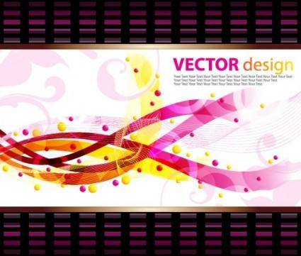Dynamic pattern background 05 vector