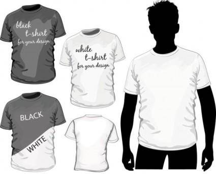 Fine tshirt template 01 vector