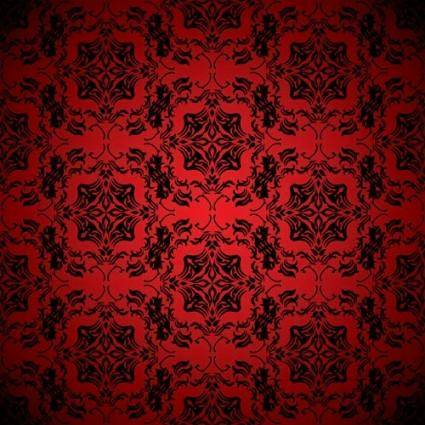 Red background pattern vector 1