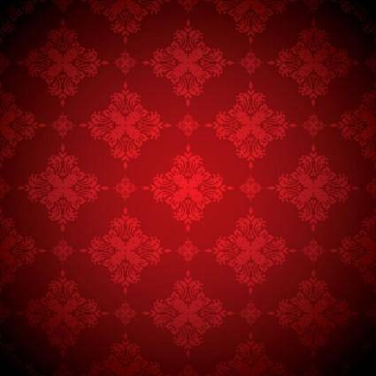 free vector Red background pattern vector 2