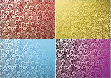 Dense background pattern vector