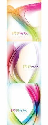 Vector dynamic background brilliant lines a