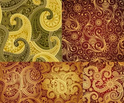Beautiful background of classical pattern vector
