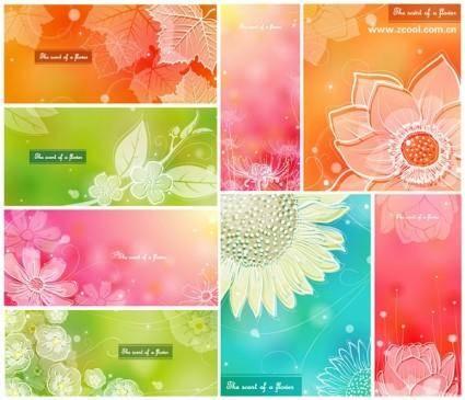 Color soft floral background vector 1 8p