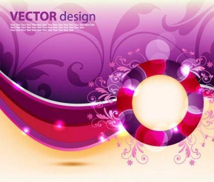 free vector Dynamic pattern background 06 vector