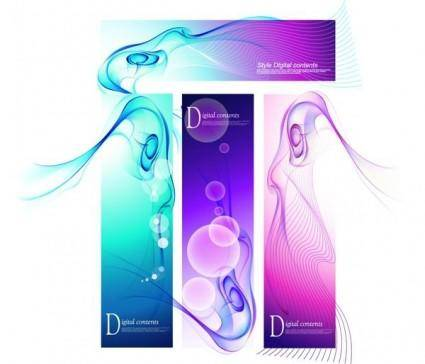 Phantom stunning background vector 3 flow line