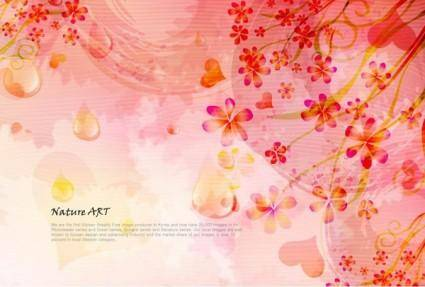 free vector Romantic floral pattern background vector design 5