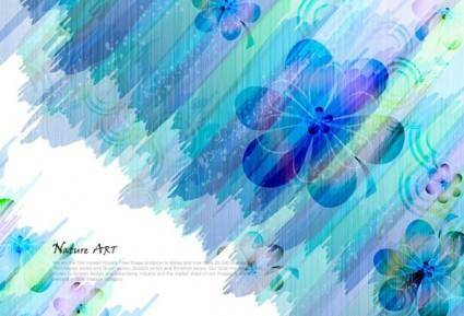 free vector Romantic floral pattern background vector design 3