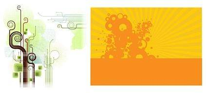 free vector Vector trend of design elements and background