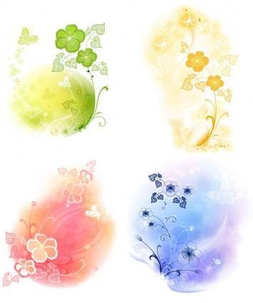 4 soft background pattern vector