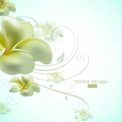 free vector Text elegant lily design background vector