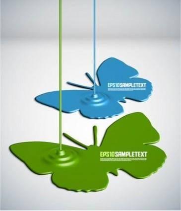 free vector Paint drip shape design background vector 5
