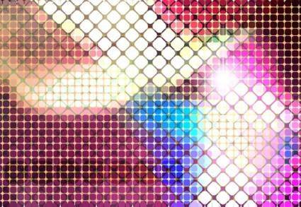 Bright mosaic design background vector 4