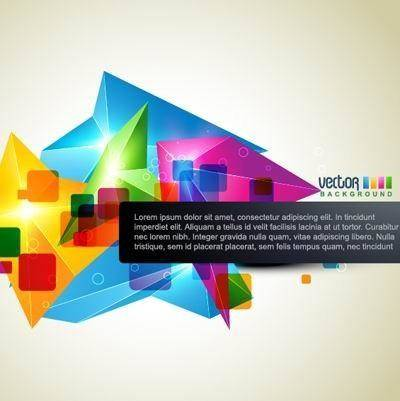 free vector Brilliant dynamic design background template vector 3