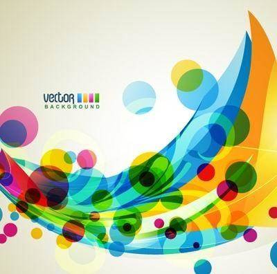 free vector Brilliant dynamic design background template vector 2