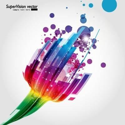 Symphony of dynamic light vector background 1