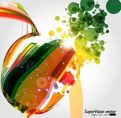 Symphony of dynamic light vector background 5