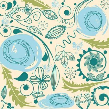 European retro pattern background vector 2