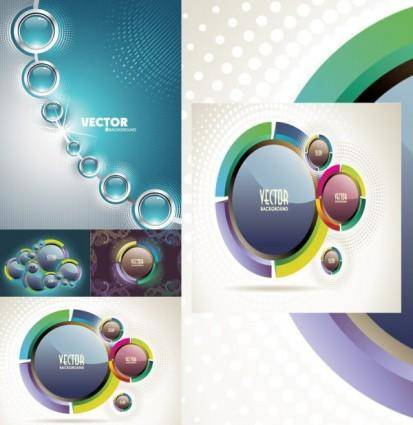 Sense of science and technology background vector