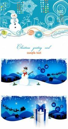 free vector Cartoon christmas background vector