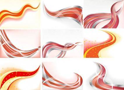 Cool dynamic lines of the background vector