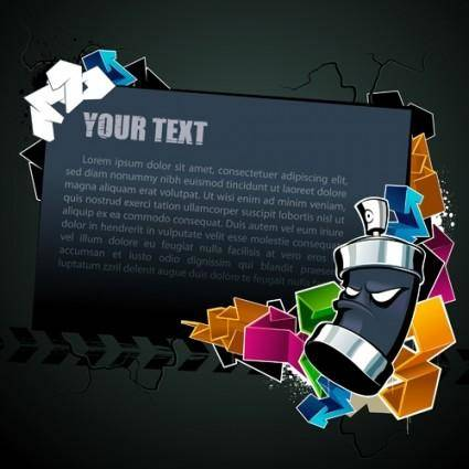 Cool text box black background vector 2