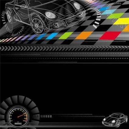 free vector Racing theme background pattern 03 vector