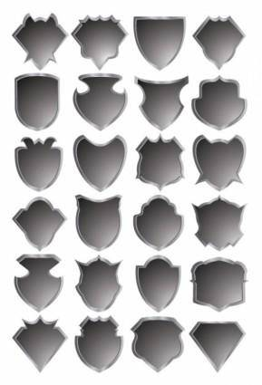Gray badge template vector