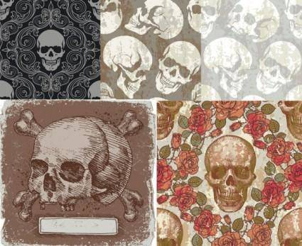 Skull theme vector background
