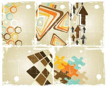 free vector Old posters retro vector background