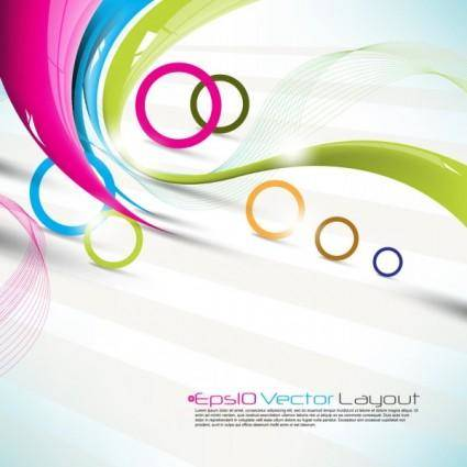 Beautiful colorful background 02 vector