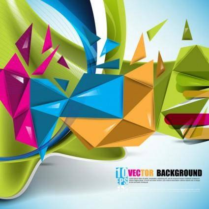 free vector Beautiful colorful background 01 vector