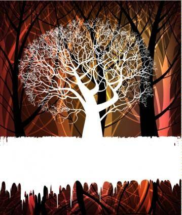 free vector Tree silhouette background 02 vector