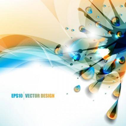 free vector Color paint splashes background 05 vector