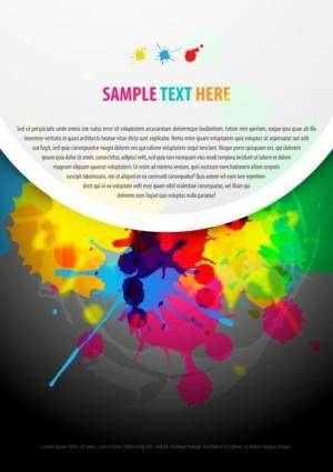 free vector Color paint splashes background 01 vector