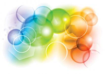 Colorful bubbles background vector