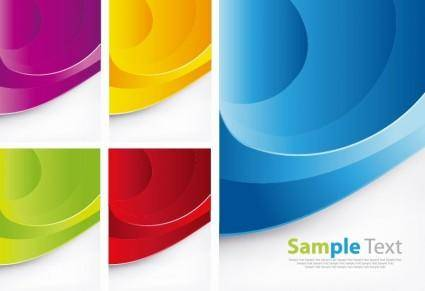free vector Colorful Waves Vector Background Set