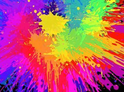 free vector Colorful Paint Splats Vector Background