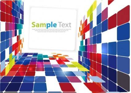free vector 3D Square Background Vector