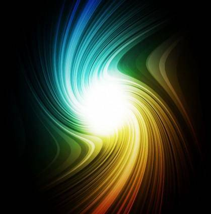 Vector Rainbow Swirl Background