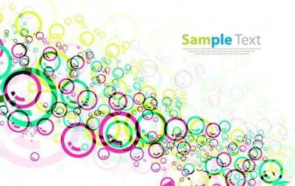 Colorful Circles Vector Background 18511