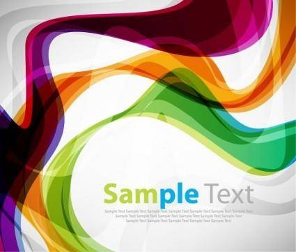 Colorful Curve Vector Background