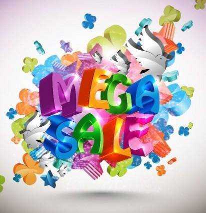 free vector Mega Sale Vector Background