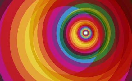 Spiral Rainbow Vector Background