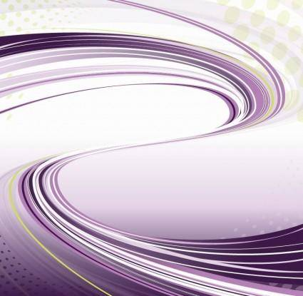 free vector Purple Background with Flowing Lines Vector