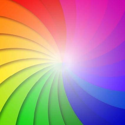 Colorful Swirl Background Vector Illustration