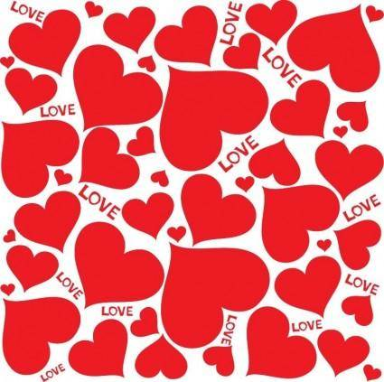 free vector Love Hearts Vector Background