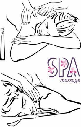 Lines beauty massage vector