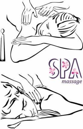 free vector Lines beauty massage vector